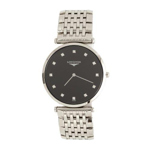 Longines Lagrande - Reloj de Cuarzo para Hombre, con Correa de Acero Inoxidable, Color Plateado