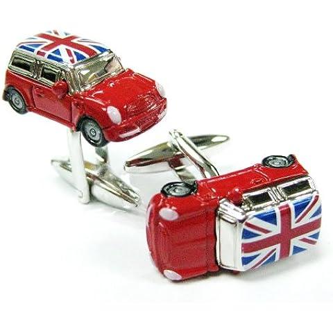 3D: Mini Cooper con bandiera Union Jack, gemelli Car Automotive Gemelos 230169-1 Tailor B