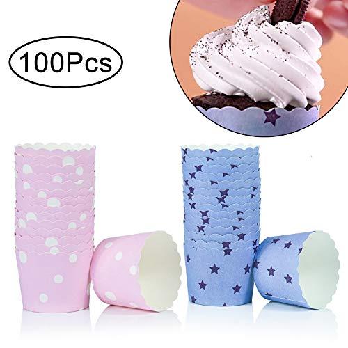 Halloween Tasse Kuchen - WENTS Mini Muffin Förmchen 100 Stück
