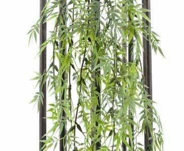 Bambusblatt Hänger, mit 81 Blätter, Länge 60cm – künstliche Pflanzen Kunstblumen Kunstpflanzen