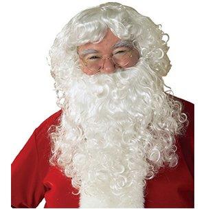 Rubies Weihnachtsmann Nikolas Bart & Perücken Set Kostüm Zubehör Erwachsene (Red Beard Kostüme)