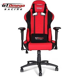 GT Omega Pro Racing silla de oficina rojo y negro tela