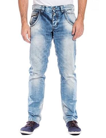 Timezone Herren Slim Jeans 26-5528 HaroldTZ rough, Gr. W33/L32, Blau (chill wash 3626)