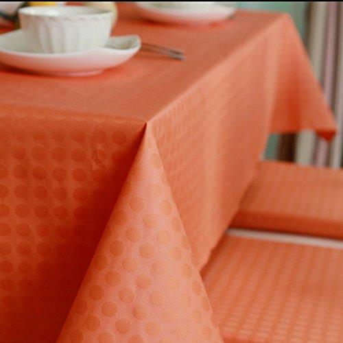 Imperméable nappe Nappe de table basse à café Nappes imperméables anti-rouille anti-rouille Nappe en tissu jetable Nappe rectangulaire simple (taille facultative) (orange fraîche) pour dîner ( taille : 145*220cm )