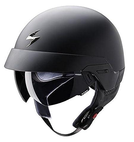 Scorpion Exo 100 Matt Black Motorcycle Helmet