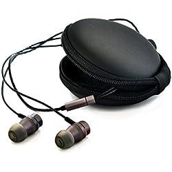 Erdre Audio D201G - Casque Audio à écouteurs Intra-Auriculaires - Marque française - Double Haut-parleurs et Microphone intégré