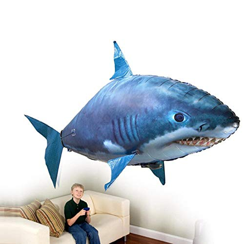 CHCUAN 158 cm Air Swimmers Control Remoto Flying Shark Clownfish para niños DIY plástico Inflable Globo Juguete Ideal