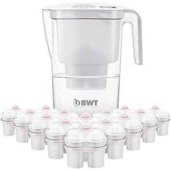 BWT Tischwasserfilter Vida 2,6l weiß; Jahrespackung 12+1 Kartuschen, angereichert mit wertvollem Magnesium für höchste Vitalität