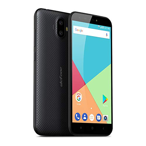 Ulefone S7 (2GB+16GB) - Smartphone Libre Textura de Superficie 3D única, 5.0' HD 720 * 1280, Android 7.0, 2GB +16GB, Batería 2500mAh, Cámara de 13+5MP/5MP, MTK 6580A QuadCore 1.3GHz,Dual SIM (Negro)