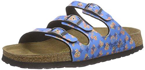 Papillio Florida Birko-Flor Damen Pantoletten Mehrfarbig (Floral Circles Blue)