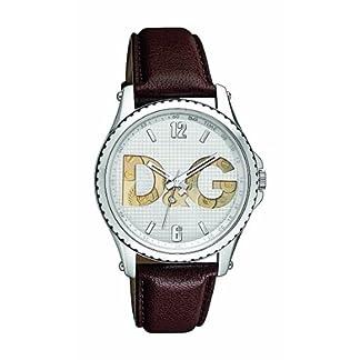D&G Dolce&Gabbana DW0704 – Reloj analógico de caballero de cuarzo con correa marrón