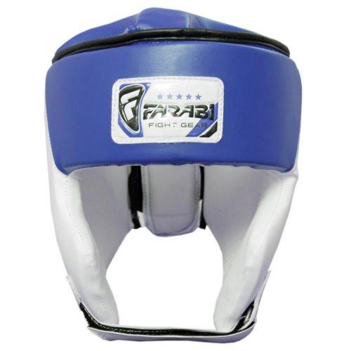 Farabi Sports Junior Kinder Kopfschutz / Boxhelm, für 6- bis 11-jährige, offen -