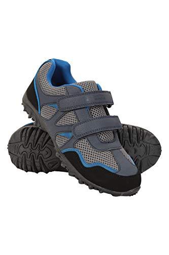 Mountain Warehouse Scarpe per Bambini Mars - Scarpe Leggere da Passeggio, Scarpe estive comode, Scarpe Trekking per Bambini con Chiusure in Chiusura a Strappo, aderenza Blu Navy 35