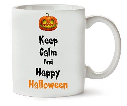 Keep Calm Happy Halloween Scary Pumpkin Klassische Teetasse Kaffeetasse