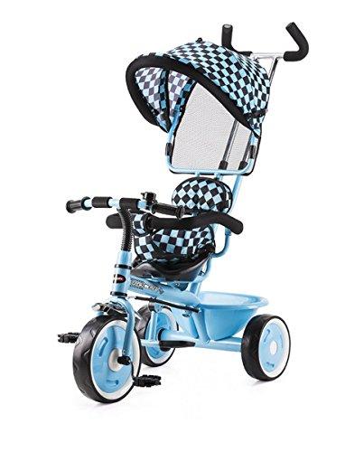 Chipolino TRKR01503WH Dreirad mit Sonnendach, Rennauto, weiß