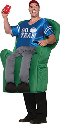 onlyglobal Herren Verkleidung Kostümparty American Football lustig Sessel Quarterback Kostüm