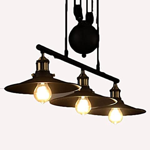 Lifting Three Chandelier Lamps ,