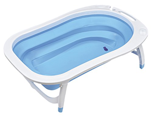 Asalvo F90500C - Bañera plegable de bebé, color azul