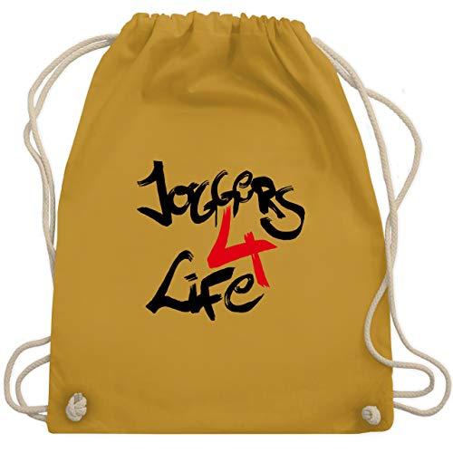 Statement Shirts - Joggers 4 life - Unisize - Senfgelb - WM110 - Turnbeutel & Gym Bag -