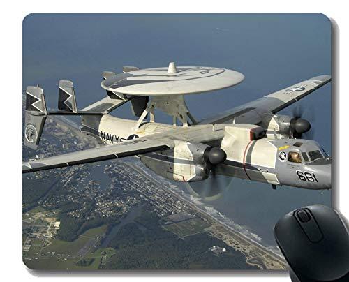 Büro-Schreibtisch-Auflage, militärische Northrop Grumman E 2 Hawkeye-Mausunterlage für Büro-Desktop oder Gaming-Mauspad -