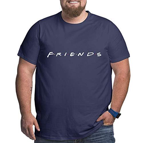 Eivan Friends Herren T-Shirt Large Size Rundhalsausschnitt Baumwolle Kurzarm Shirt Gr. XXL, Navy