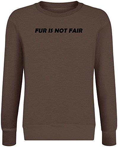 Pelz ist Nicht fair - Fur is Not Fair Sweatshirt Jumper Pullover for Men & Women Soft Cotton & Polyester Blend Unisex Clothing Large (Braun-fair-isle-pullover)