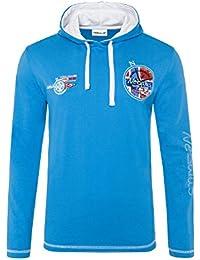 T194 - NEBULUS Capuche Chemise JOHN, Shirt À Manches Longues, chemise longue, Polo longue, polo longue