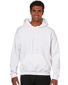 Gildan Heavy Blend Erwachsenen Kapuzen-Sweatshirt 18500 White, M