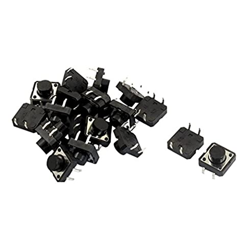 Tact Switch - SODIAL(R) 20 pieces 12x12x7mm PCB Momentary Tact bouton-poussoir 4 broches DIP