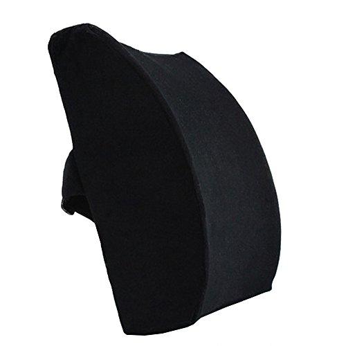 Lovehome cuscino lombare auto supporto lombare sedia ufficio schiena ergonomico rilievo al dolore alla schiena - velluto nero