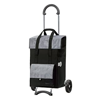 Andersen Shopping trolley Scala with bag Milla black, Volume 49L, steel frame