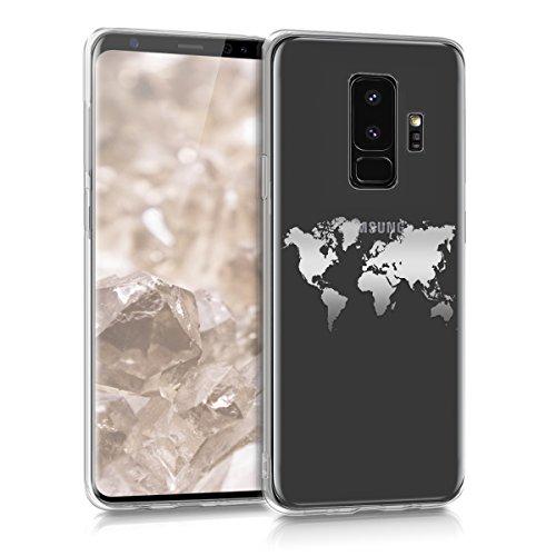 kwmobile Samsung Galaxy S9 Plus Hülle - Handyhülle für Samsung Galaxy S9 Plus - Handy Case in Silber Transparent