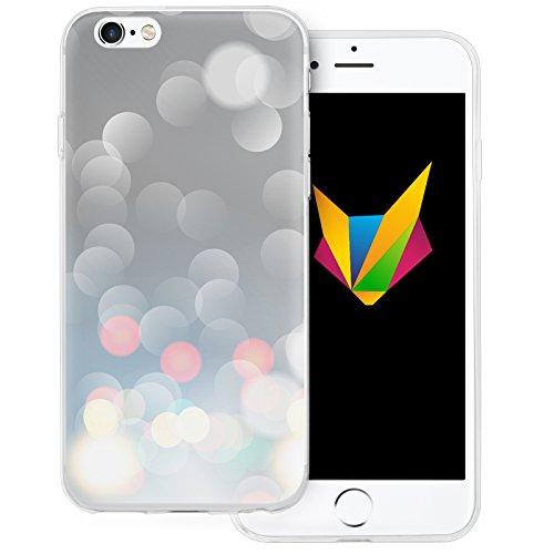Mobilefox Sparkle transparente Silikon TPU Schutzhülle 0,7mm dünne Handy Soft Case für Apple iPhone 5/5S/SE Sparkle Grau Sparkle Grau