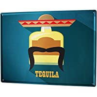 Blechschild XXL Alkohol Retro  Tequila Bar Kneipe Restaurant