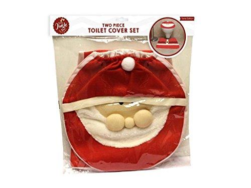 2Santa WC-Sitz Cover Teppich Badezimmer Set für Weihnachten Home Dekorationen