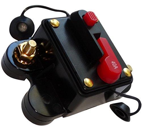 Preisvergleich Produktbild AERZETIX: 40A 12V 24V 32V 48V automatische Sicherung Brecher 78x52x37mm IP67 amp Auto Auto-Verstärker C14611