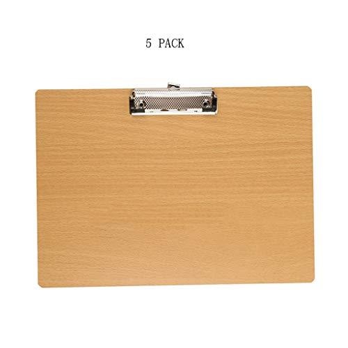 Lily Klassische Zwischenablage A4 Holz Ordner Ordner Zwischenablage kann Schreibblock Ordner, Dick Mehrzweck-Zwischenablage hängen Bürobedarf (Color : B)
