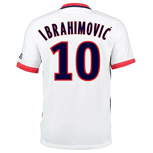 2015-16 PSG Nike Away Kit (Ibrahimovic 10) (Fußball-kit Herren Nike)