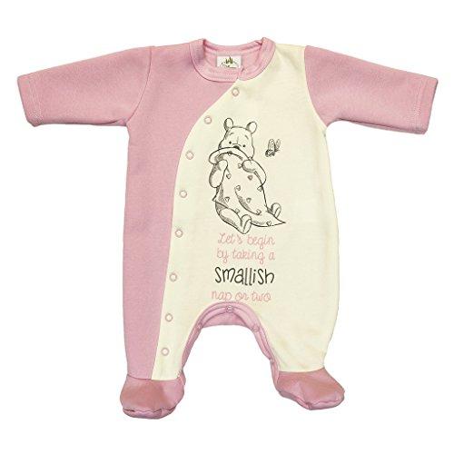 Kleines Kleid Winnie Pooh super süßer und gefütterter Strampler für Mädchen Größe 68, Farbe Grau (Pooh Winnie Kleider The)