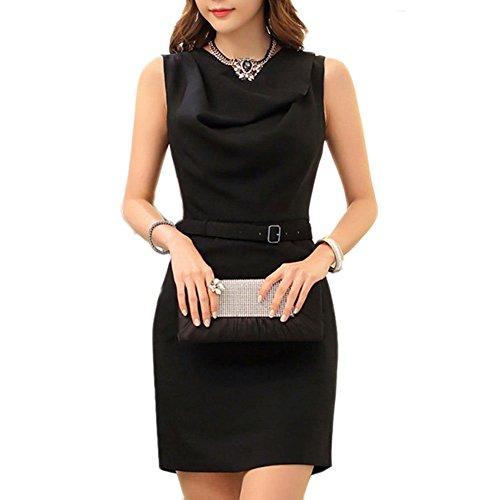 Pinkyee Damen Kleid Mehrfarbig - Schwarz