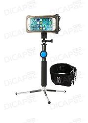 DiCAPac Action passend für Pocophone F1 64GB / Pocophone F1 128GB - Sportarmband mit Handyhülle wasserdicht IPX8 - Sport Armband Joggen/Laufen & Schwimmen - weitere Halterungen verfügbar