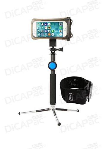 DiCAPac Action passend für Gionee Gpad G2 / Gpad G3 / GPad G5 - Sportarmband mit Handyhülle wasserdicht IPX8 - Sport Armband Joggen/Laufen und Schwimmen - weitere Halterungen verfügbar
