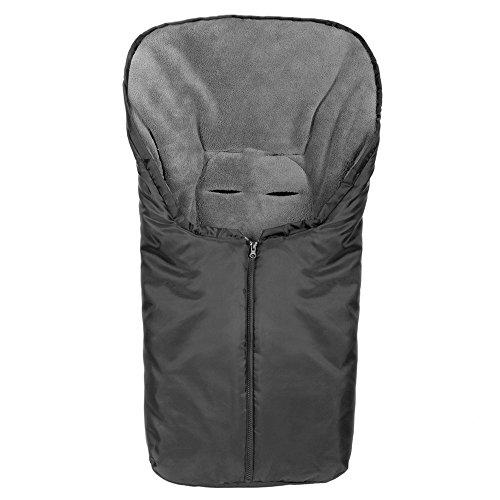 Zamboo Universal Thermo-Fußsack Comfort für Babyschale - Schwarz Grau