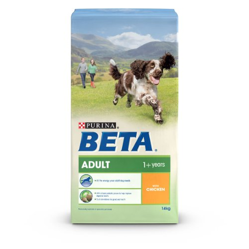 Beta Dry Adult Dog Food with Chicken, 14 kg