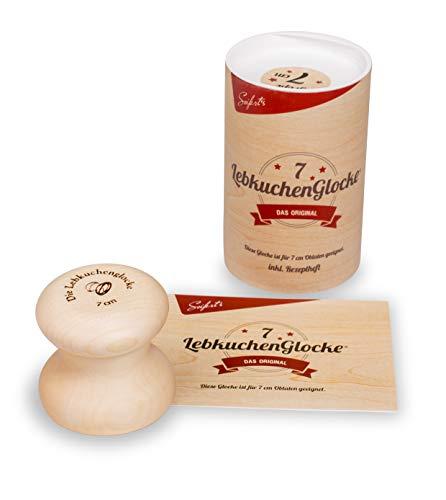 Lebkuchenbackform 7 cm Lebkuchenglocke Lebkuchenform Nürnberger Lebkuchen backen, Backform, für Hobbybäcker und Konditoren