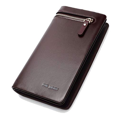 FUR JADEN Artificial Leather Designer Long Zipper ...