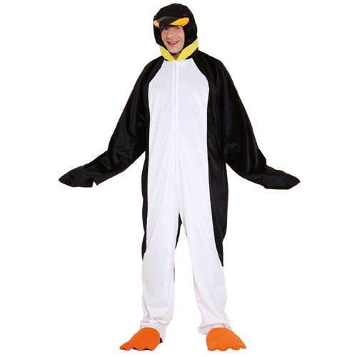 Kostüm Pinguin Overall für Damen Herren Fasching Karneval Eiszeit Pinguinkostüm