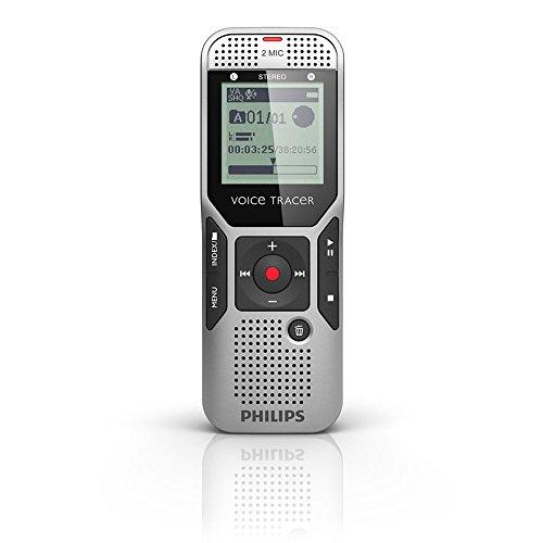 italer Rekorder mit 2Mic-Stereoaufnahme, 2 GB, silbergrau (Index-karte Speicher)