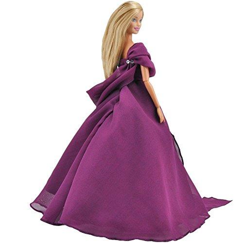 Fashionista Prinzessin Puppen Barbie (E-Ting Haarverl?ngerungs handgefertigt Kleidung Abend Kleid Prinzessin Outfit f?r Barbie Fashionista Puppe)