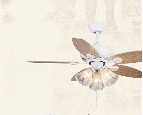 Lampadario Bianco Legno : Lkmnj villaggio americano ventilatore da soffitto il nordic